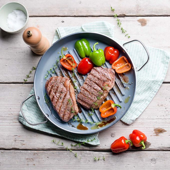 Grilled Steak with Horseradish and Vegetables