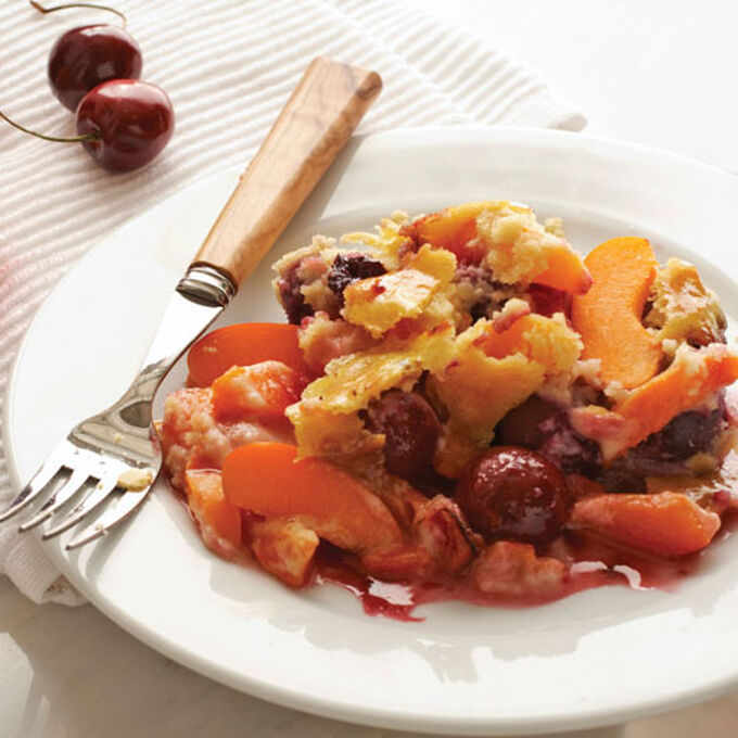 Apricot-Cherry Almond Cobbler