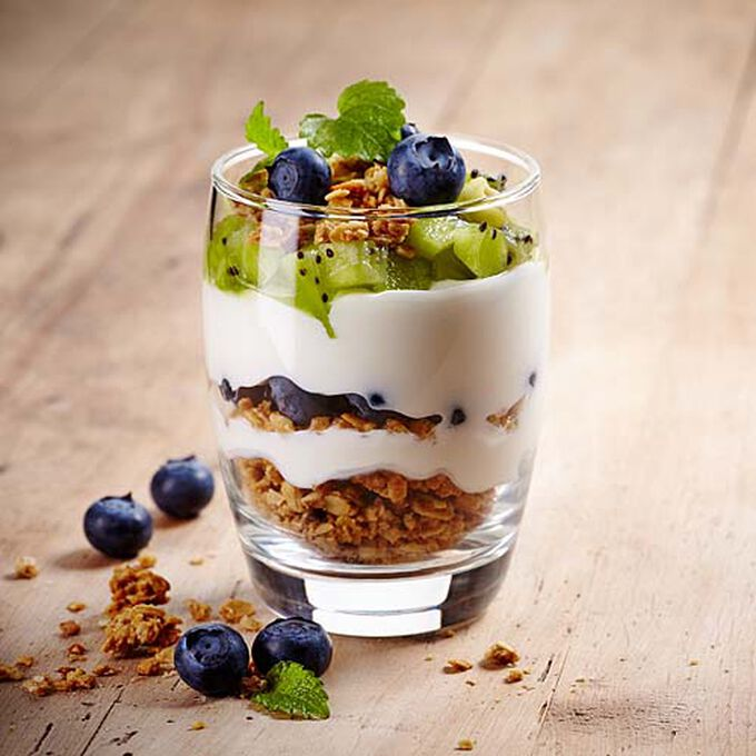 Yogurt Parfait with Coconut Apple Granola