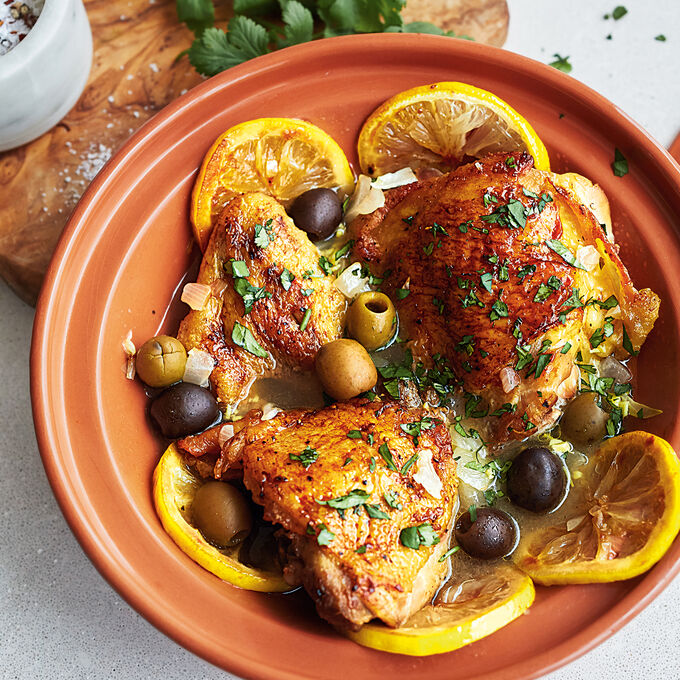 Chicken and Preserved Lemon Tagine with Olives
