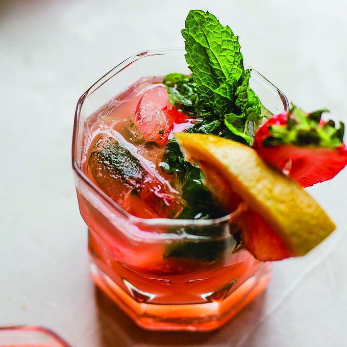 Grapefruit & Strawberry Mint Mojito