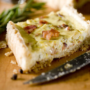 Leek, Parmesan and Ham Quiche