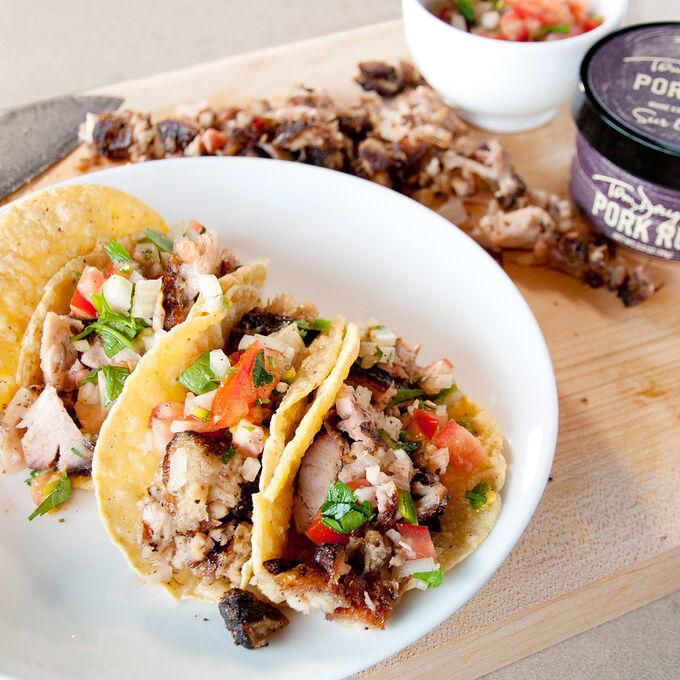 Barbeque Pork Butt Tacos