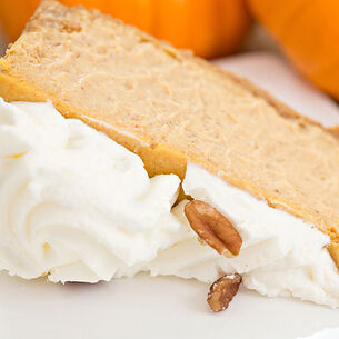 Bourbon-Pumpkin Cheesecake
