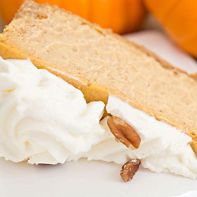 Bourbon-Pumpkin Cheesecake