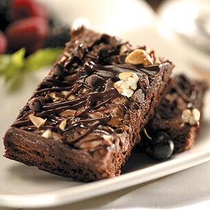 Triple Chocolate Walnut Squares