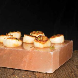 Salt Crust Scallops with Thai Lime Dipping Sauce
