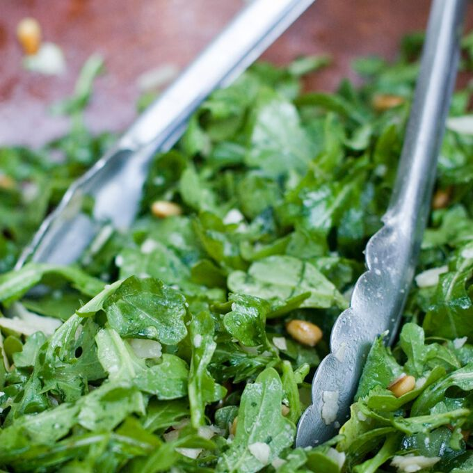Arugula & Shaved Parmesan Salad