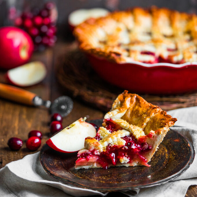 Lattice-Top Apple-Cranberry Pie