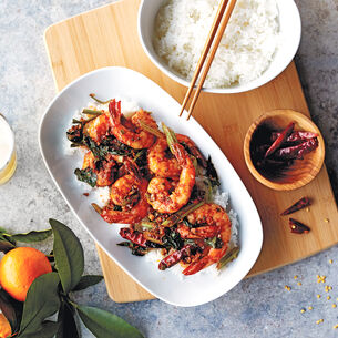 Wok-Fried Spicy Sichuan-Style Shrimp
