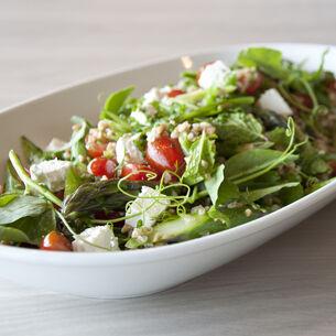 Spelt Salad with Sugar Snap Peas and Feta