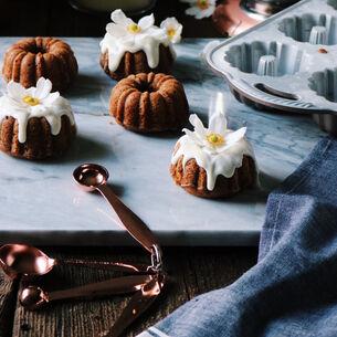 Pumpkin Bourbon Cakelets with Spiced Maple Glaze