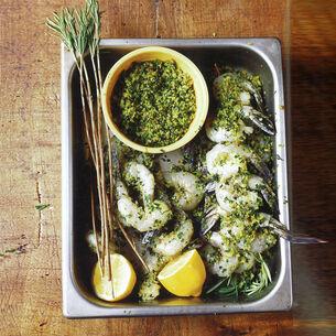 "Shrimp Rosemary —""Spiedini Alla Romagna"""