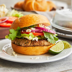 Cilantro-Lime Turkey Burgers