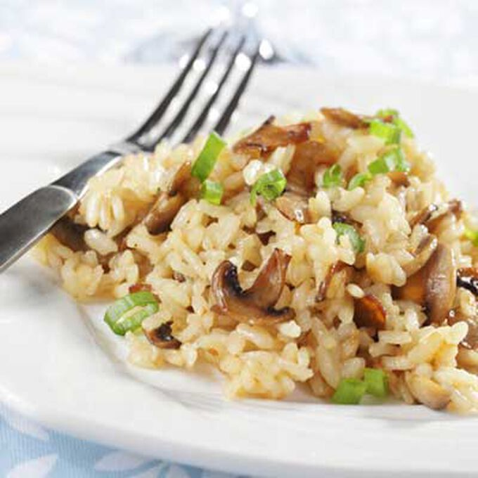 Risotto with Mushrooms and Salumi Pancettini