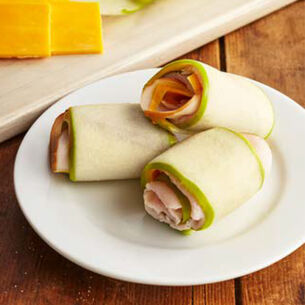 Apple Roll Ups with Ham and Cheddar