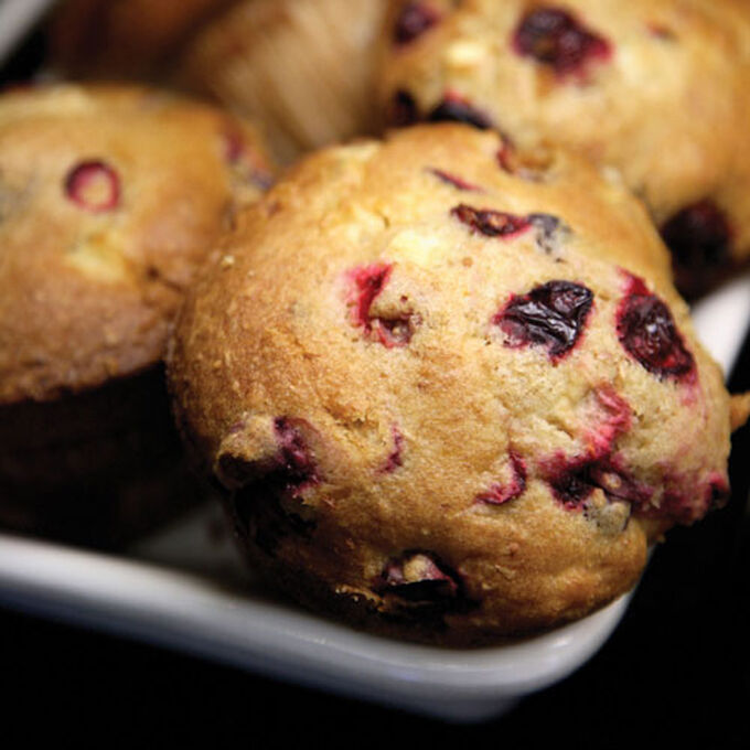 Easy Morning Muffins with Raspberries