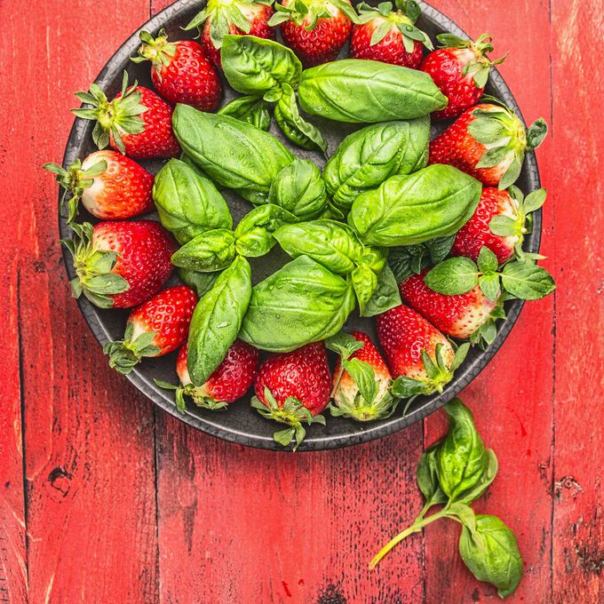 "Strawberry Basil ""Sorbet"""