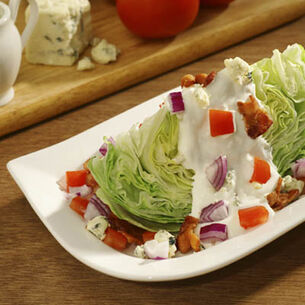 Iceberg Wedges with Creamy Blue Cheese Dressing