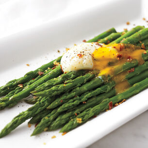 Asparagus with Egg and Crispy Pancetta