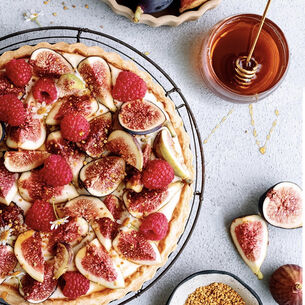 Fig and Raspberry Tart with Honey