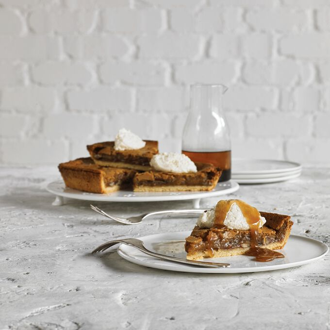 Smoked Maple Pecan Tart with Ricotta Cream