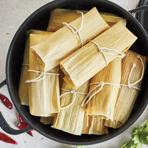 Oaxacan Chicken Tamales with Chile Rojo Salsa