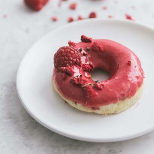 Raspberry Baked Doughnuts