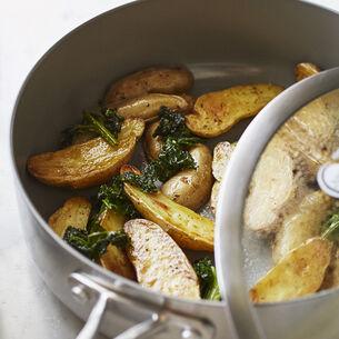 Crispy Kale and Potatoes