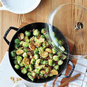 Pan-Roasted Brussels Sprouts with Bacon and Walnuts