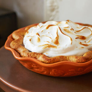 Spiced Pumpkin Pie with Meringue Topping