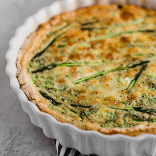 Spring Quiche with Asparagus, Gruyere and Fontina