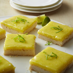 Lime Bars with Shortbread Cookie Crust