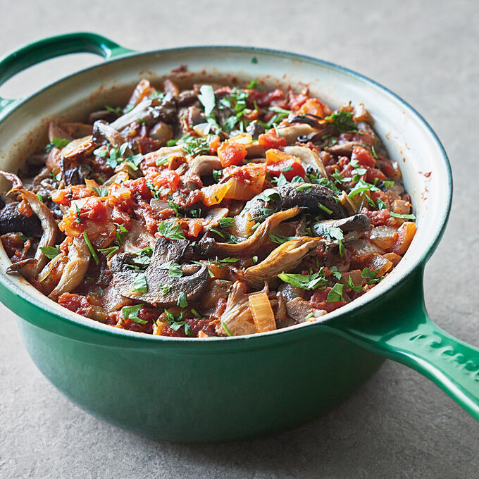 Baked Polenta with Chanterelles and Sage Ragout