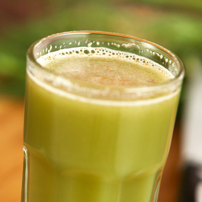 Cucumber, Celery, Fennel and Bean Sprout Juice