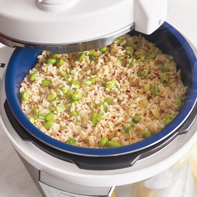 Brown Rice and Edamame