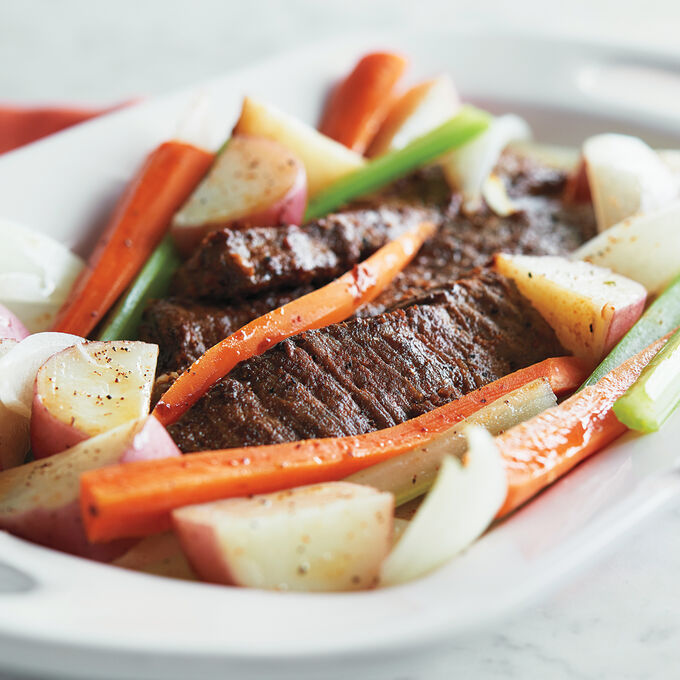 Steamed Beef and Vegetables