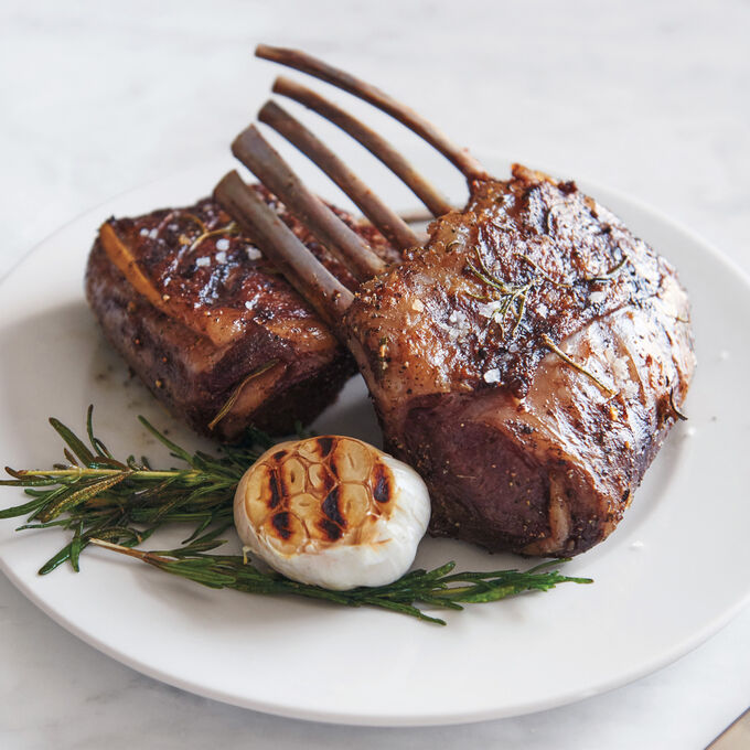 Rack of Lamb with Mint Butter