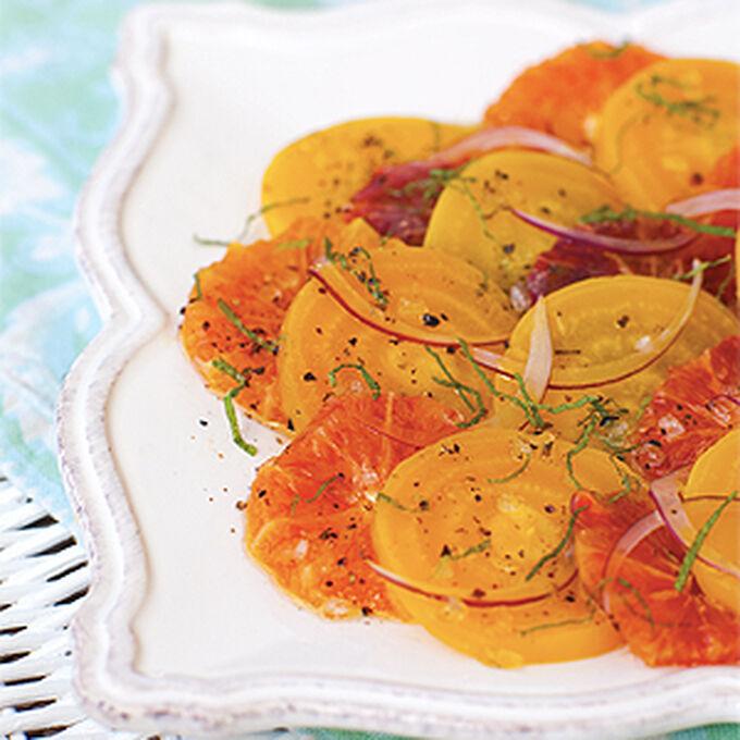 Golden Beet and Blood Orange Salad