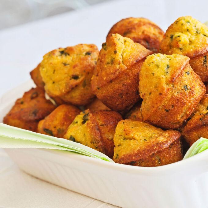 Mini Corn Muffins with Roasted Garlic and Fresh Herbs
