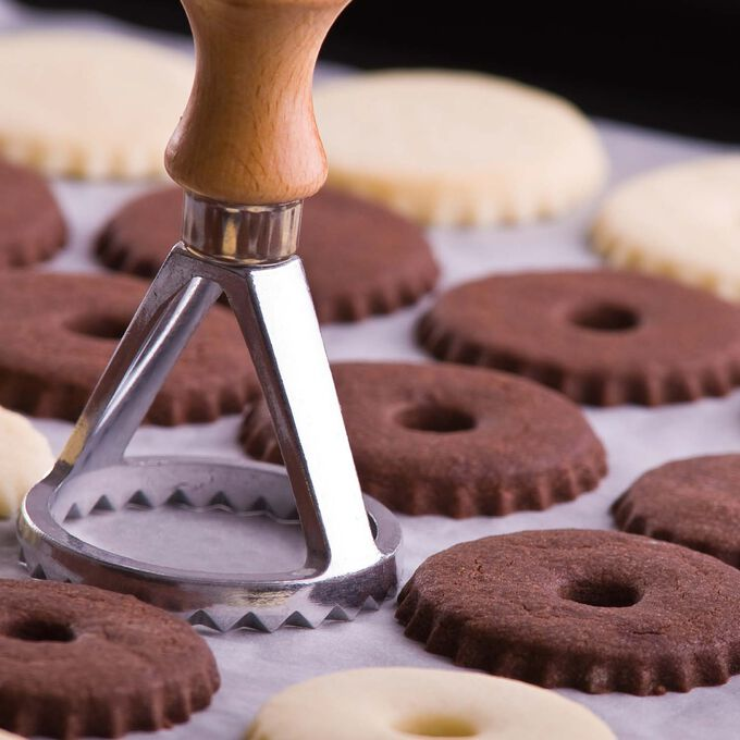Chocolate Cocoa Nib Shortbread Cookies