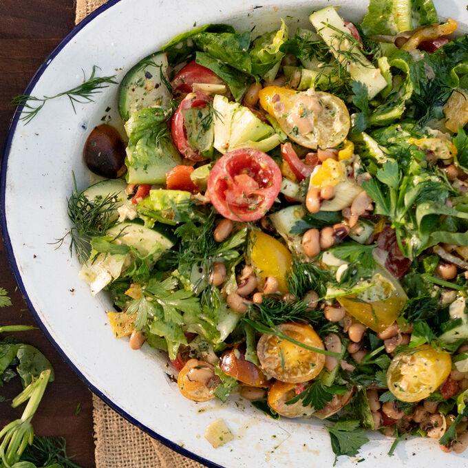 Chopped Salad with Aquafaba Ranch