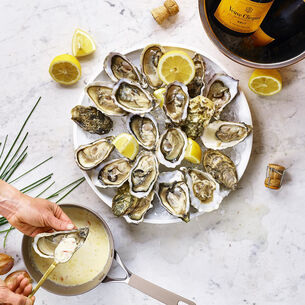 Oyster au Gratin with Champagne