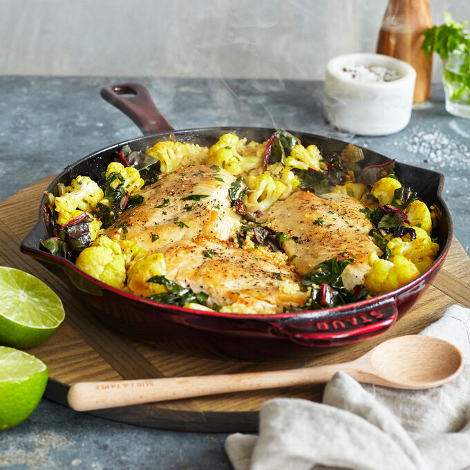 Spiced Couscous with Chicken and Lime
