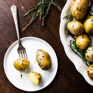 Instant Pot Duck Fat Herbed Potatoes