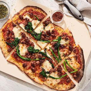 Italian Sausage, Broccoli Rabe and Tomato Pizza