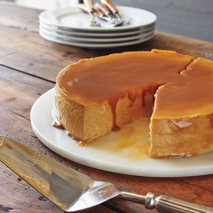 Upside‐Down Pumpkin Caramel Cheesecake in the Pressure Oven