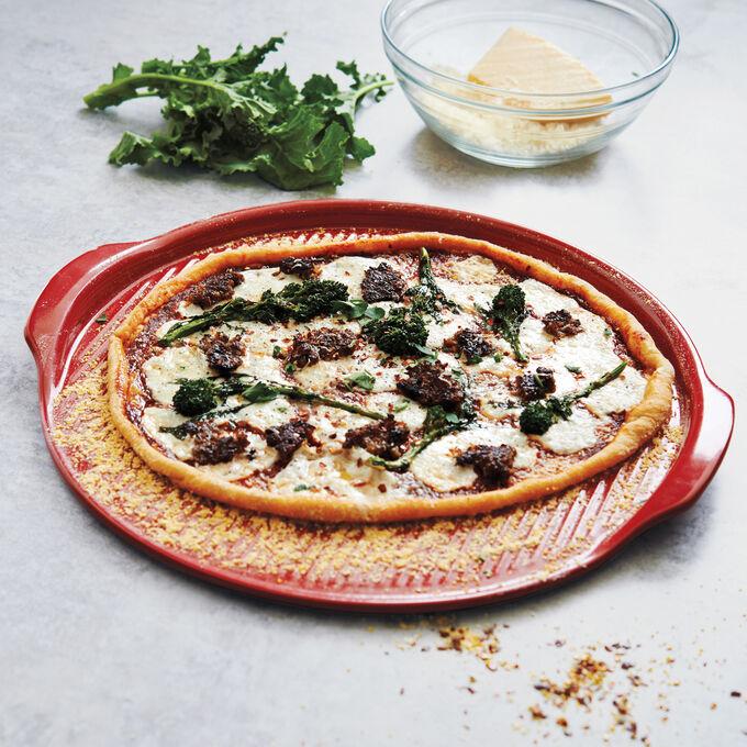 Italian Sausage, Broccoli Raab and Fresh Mozzarella Pizza
