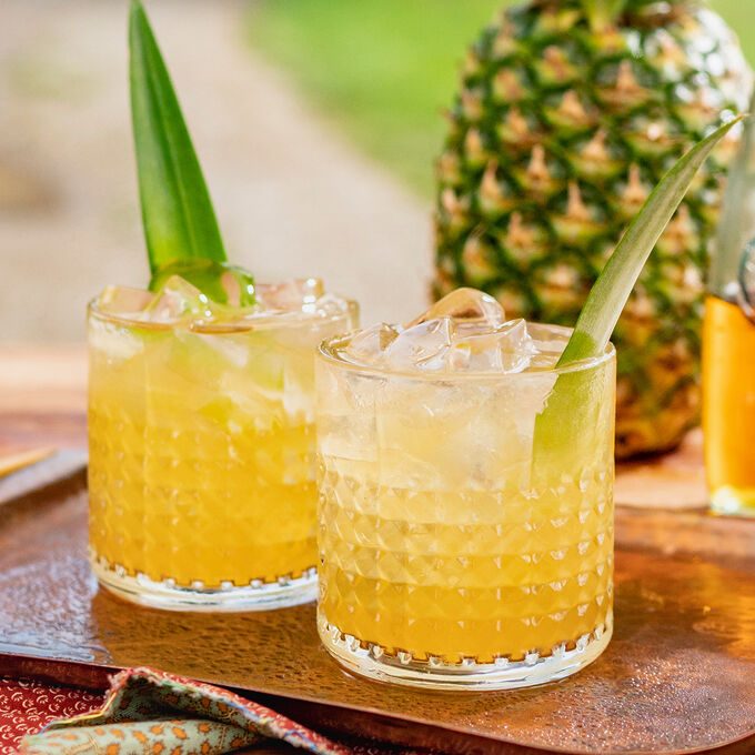 Pineapple Skin Bourbon Smash