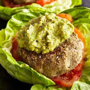 Veggie & Lentil Burgers with Avocado Mash